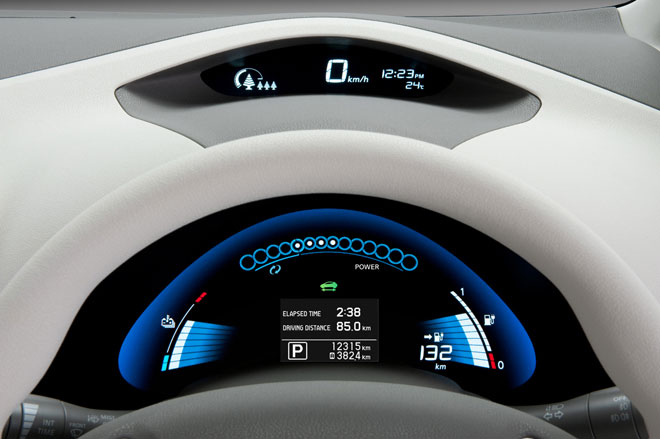 Tableau de bord Nissan Leaf