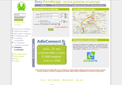 accueil easycovoiturage.com