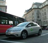 Autopartage honda civic hybride a Londres